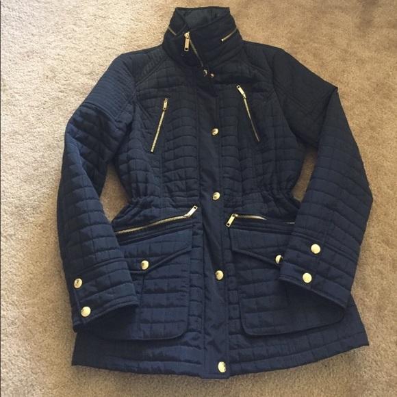 Michael Kors Jackets & Blazers - Michael Kors navy quilted woman jacket. Size xs